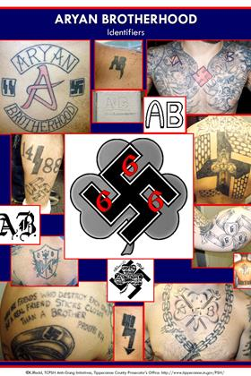 Aryan Brotherhood, Gang Idenitifers