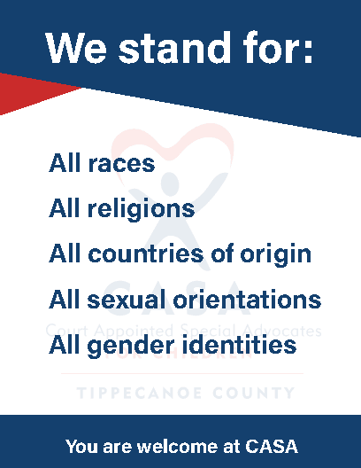 We stand for you.  All races. All religions.  All countries of origin.  All sexual orientations.  Al