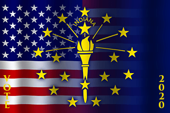 Ind_Sate Flag_Imposed over the US Flag with the words VOTE 2020