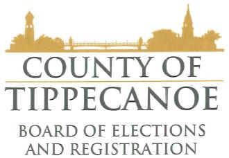 County of Tippecanoe, Board of Elections and Registrations Logo